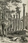The Roman Theatre, Besancon, in the 19th century, from 'French Pictures' by Rev. Samuel G. Green, published 1878 (litho) Fine Art Print by Giovanni Battista Piranesi