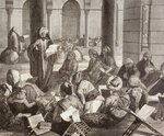 Professor lecturing at the Al-Azhar University, Cairo, in the 19th century, from 'El Mundo Ilustrado', published Barcelona, 1880 (litho) Wall Art & Canvas Prints by Turkish School