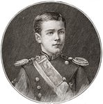 Nicholas II, 1868 – 1918. Seen here aged 14. Last Emperor of Russia, Grand Duke of Finland, and titular King of Poland. From The Strand Magazine, published 1896 Wall Art & Canvas Prints by French School