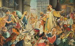 Jesus Removing the Money Lenders from the Temple Fine Art Print by James Jacques Joseph Tissot