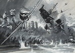 Pearl Harbour, 7th December 1941 Fine Art Print by English School