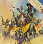 Zulu Warriors Poster Art Print by James Edwin McConnell