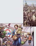 The Blitz (gouache on paper) Postcards, Greetings Cards, Art Prints, Canvas, Framed Pictures & Wall Art by Muggeridge