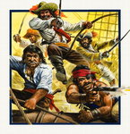 Henry Morgan (1635-88) - Pirate (gouache on paper) Wall Art & Canvas Prints by Pat Nicolle