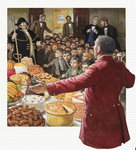 A Feast for the Boy Chimney Sweeps (gouache on paper) Wall Art & Canvas Prints by Carol Tatham Smith