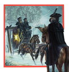 Highwayman (gouache on paper) Wall Art & Canvas Prints by Pat Nicolle