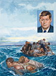 John F. Kennedy (1917-1963) (gouache on paper) Wall Art & Canvas Prints by Wilf Hardy