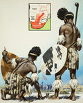 Zulus (gouache on paper) Wall Art & Canvas Prints by James Edwin McConnell