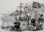 Arrival in Western Australia on 21st January 1827 Poster Art Print by Dominic Serres