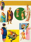 Ancient Costumes (gouache on paper) Wall Art & Canvas Prints by Shanti Panchal