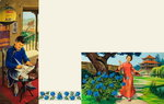Two Scenes of Chinese Life in a Noble Family (gouache on paper) Fine Art Print by Carmontelle