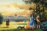 The Palace of the Tuileries (gouache on paper) Wall Art & Canvas Prints by Claude Joseph Vernet