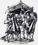 Coronation of Charles II (gouache on paper) Wall Art & Canvas Prints by English School