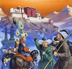 Tibet (gouache on paper) Wall Art & Canvas Prints by Utagawa Sadanobu