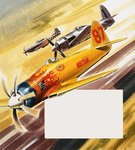 Three 'hot rod' racers from Aerobatic competitions Fine Art Print by Gerry Wood