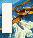 A Tiger Moth patrolling the British coast during World War II Fine Art Print by Gerry Wood