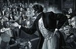 Benjamin Disraeli during his maiden speech to Parliament Fine Art Print by English School