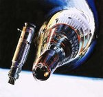 Into the Blue: Emergency in Space! Fine Art Print by Wilf Hardy