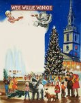 Wee Willie Winkie spends Christmas in London Poster Art Print by Judy Joel