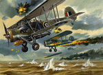 Aircraft under Fire Fine Art Print by Wilf Hardy