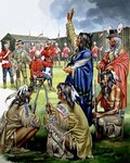 Indians and American Soldiers Fine Art Print by Angus McBride