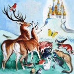 Should they go to the castle? Fine Art Print by Ron Embleton