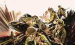 Soldiers and tank Fine Art Print by Gerry Wood