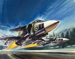 Unidentified jet fighter Fine Art Print by Wilf Hardy