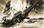 A Messerschmitt crash lands Fine Art Print by Wilf Hardy