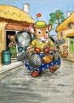 Town Mouse and Country Mouse Fine Art Print by Philip Mendoza