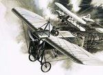 The first reconnaissance flight by the RFC Wall Art & Canvas Prints by English School