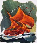 The Flying Dutchman Fine Art Print by English School