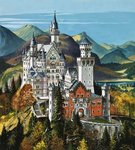 Castle Neuschwanstein Fine Art Print by English School