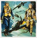 Wartime pilots and the Battle of Britain Fine Art Print by Frank Bellamy