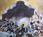 Storming the Bastille Fine Art Print by Lesueur Brothers