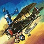 Freedom of the Skies: Yankee Super Ace. Edward Rickenbacker Fine Art Print by English School