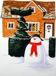 The Snowman Fine Art Print by Linda Benton