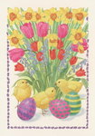 Chicks, Eggs and Flowers, 1995 Fine Art Print by William Henry Hunt