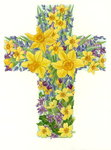 Floral Cross I, 1998 Fine Art Print by William Henry Hunt