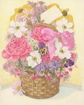 Basket of Flowers, 1995 (w/c on paper) Wall Art & Canvas Prints by Albert Williams