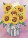 Sunflowers, 1998 (w/c on paper) Wall Art & Canvas Prints by Joan Thewsey
