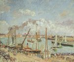 The Port of Le Havre, Afternoon, Sun, 1903 Fine Art Print by Camille Pissarro
