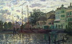 The Dam at Zaandam, Evening, 1871 Fine Art Print by Claude Monet