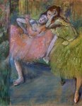 Two Dancers in the Foyer, c.1901 Postcards, Greetings Cards, Art Prints, Canvas, Framed Pictures, T-shirts & Wall Art by Edgar Degas