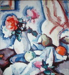 Roses in a White Vase Fine Art Print by George Leslie Hunter