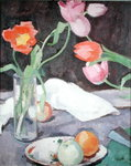 Tulips, 1927 Wall Art & Canvas Prints by George Leslie Hunter