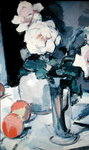 Roses in a Vase Fine Art Print by George Leslie Hunter