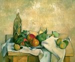 Still Life with Bottle of Liqueur, 1888-90 Wall Art & Canvas Prints by Paul Cezanne