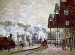 Gare Saint-Lazare, Paris, 1877 Wall Art & Canvas Prints by Claude Monet