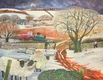 Winter Woolies Postcards, Greetings Cards, Art Prints, Canvas, Framed Pictures, T-shirts & Wall Art by Florence Hardy